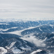 Stock Photo: The view from the observation deck. Dachstein glacier. Austria