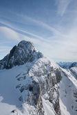 展望台からの眺め。ダッハシュタインの氷河。オーストリア — ストック写真