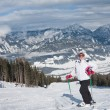 The woman at the view winter mountain — Stock Photo #4540276