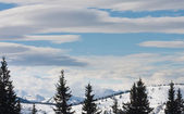 Hory pod sněhem. Ski resort schladming. Rakousko — Stock fotografie