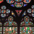 Royalty-Free Stock Photo: Fragment of stained glass windows in the cathedral of Notre Dame