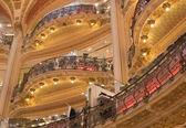 France. Paris. Galeries Lafayette. Balconies — Stock Photo