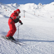 The man is skiing at a ski resort Solden — Stock Photo #4858099
