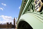 Parliament and bridge, London, England — Stock Photo