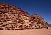 Safari in desert Wadi Rum. Jordan — Stock Photo