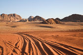 Desert Wadi Rum. Jordan — Stock Photo