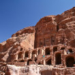 Nabatean temple or tomb town Petra, Jordan — Stock Photo