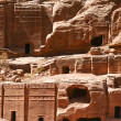 Petra in Jordan - city carved out of the rock - Stock Photo