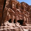 Nabatean temple or tomb town Petra, Jordan. Made by digging a ho — Stock Photo