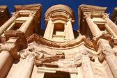 Klasztor w petra jordan — Zdjęcie stockowe