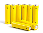 Yellow battery — Stock Photo
