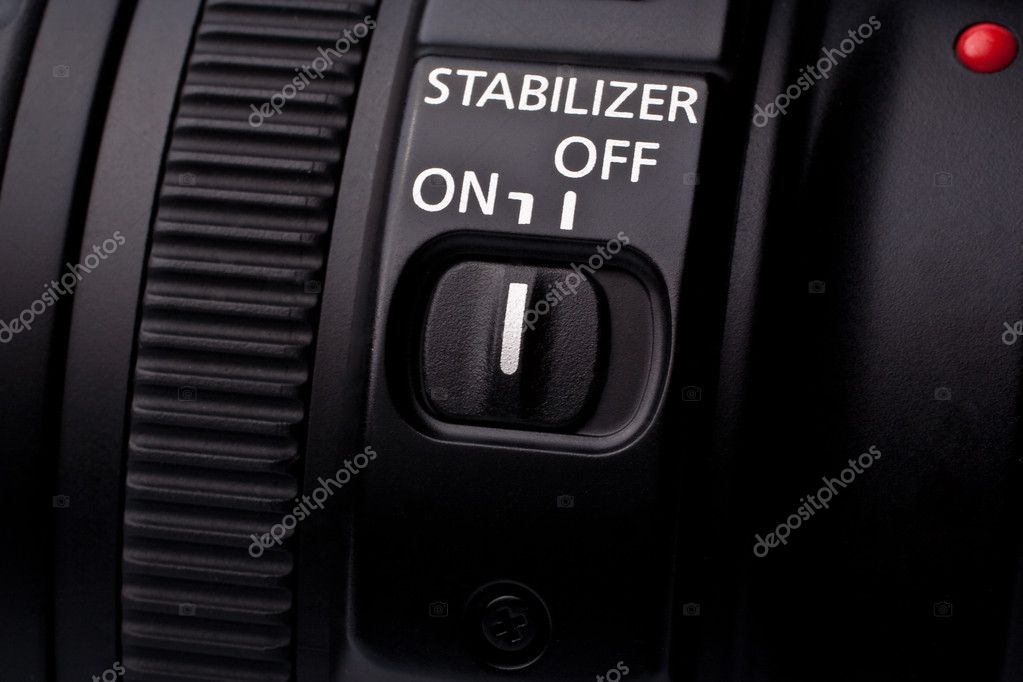 Lens  stabilization switch — Stock Photo #4367556