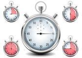 Chronomètre de chrome de vecteur. — Vecteur