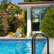 Stock Photo: House and pool