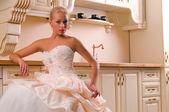Funny bride — Foto de Stock