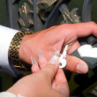 Groom holds key — Stock Photo #3961987