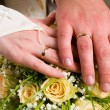 Hands of newlyweds — Stock Photo #3978690