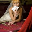 Funny Bride casino - Stock Photo
