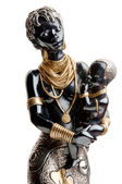 Statue of an African woman — Stock Photo