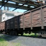 Car transport train — Stock Photo