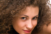 Portrait of a beautiful brunette — Stock Photo