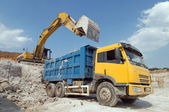 Lorry transporting stones — Stock Photo