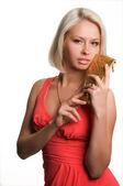 Portret blondynka — Zdjęcie stockowe