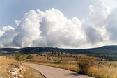 Landscape with a road — Stock Photo