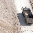 Truck transports clay — Stock Photo