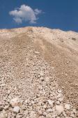 High mound of waste — Stock Photo
