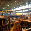 Factory with equipment to produce — Foto de Stock