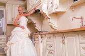 The bride laughs — Stock Photo