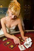 Carte da gioco divertente sposa — Foto Stock