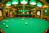 Interior space with tables for billiards — Stock Photo