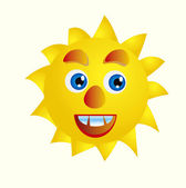 Cartoon sun — Stock Photo