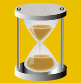 Old-time hourglass — Stock Photo