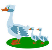 Goose with small goose — Stock Vector