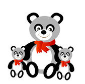 Toy panda bear — Stock Vector