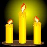 Постер, плакат: Three alight candles