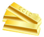 Gold in bullion — Stock Vector