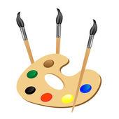 кисты и цвет краски — Cтоковый вектор
