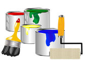 Paint and painting tools — Stock Vector