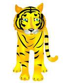 Beast of prey tiger — Stock Vector
