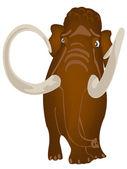 Extinct prehistorical animal mammoth — Stock Vector