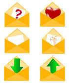 Postal envelopes — Stock Vector
