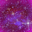 Pink sky and stars - Stock Photo