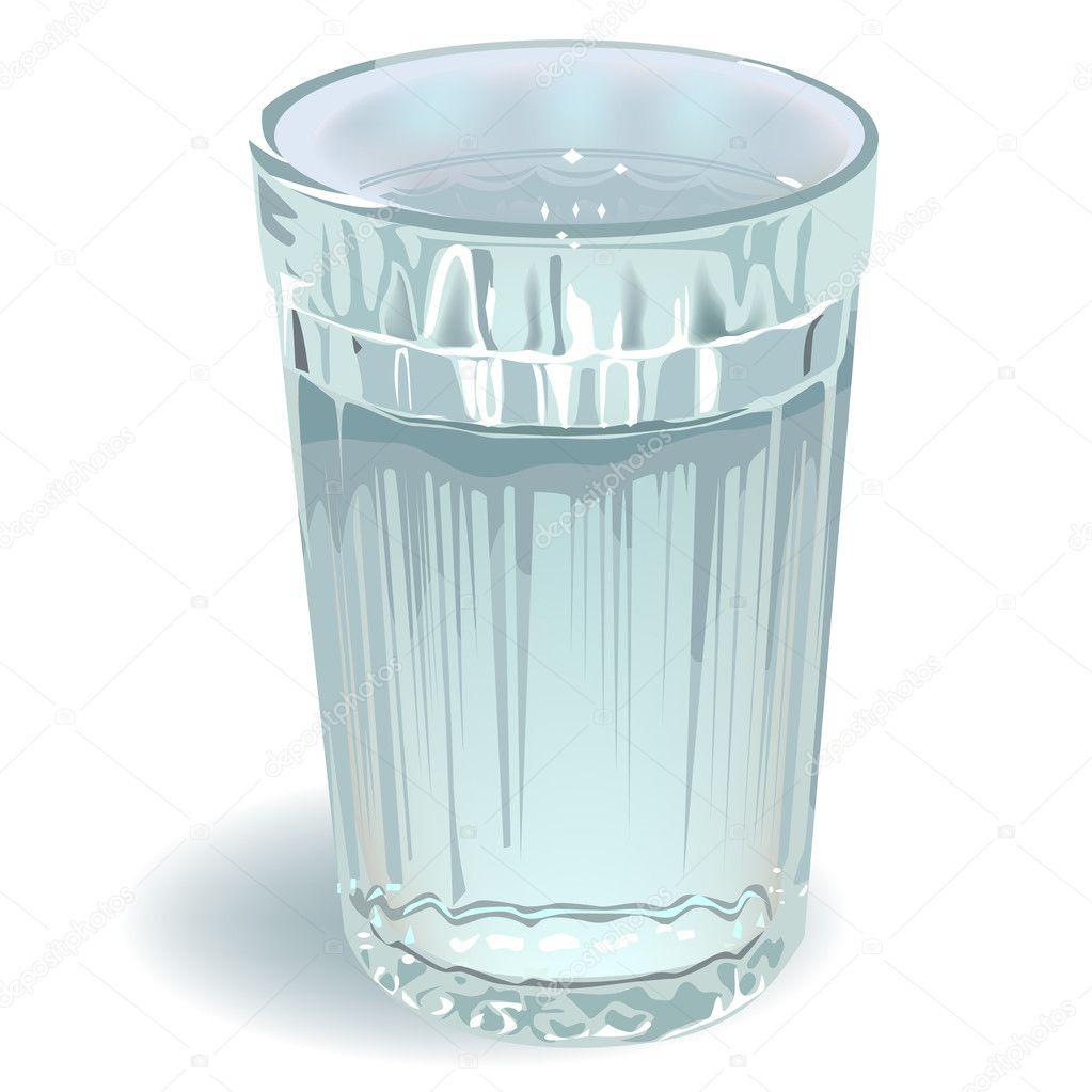 Glass of water — Stock Vector © orensila #4018212