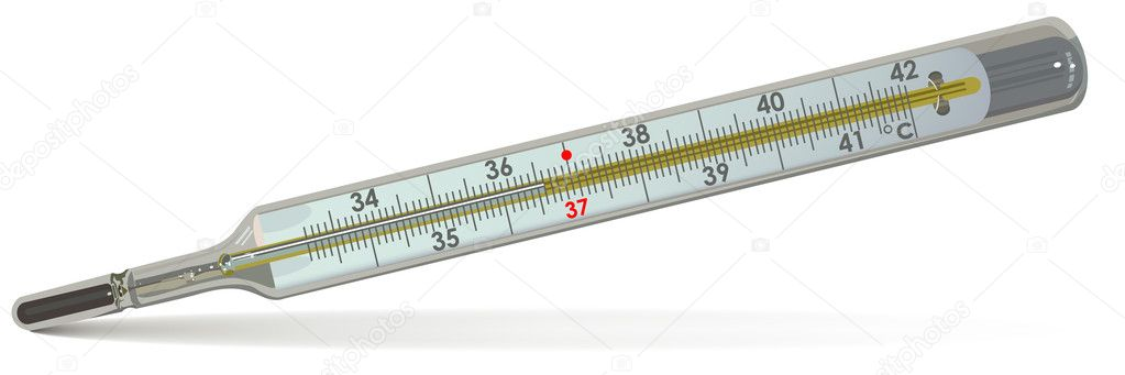 The medical thermometer. Illustration in vector format EPS. — Stock Vector #4302941