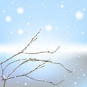 Den winter-hintergrund-thread — Stockvektor