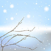 The winter background thread — Stock Vector